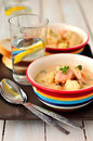 Salmon Chowder with Cauliflower Royalty Free Stock Photo