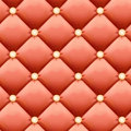 Salmon-colored Retro luxury background - Leather upholstery Seamless pattern Royalty Free Stock Photo