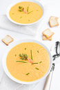 Salmon cream soup Royalty Free Stock Photos