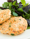 Salmon cutlets Stock Photo