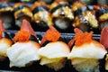 Salmon eggs sushi Royalty Free Stock Photo