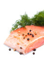 Salmon fillet Royalty Free Stock Photos