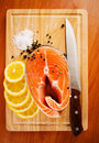 Salmon fillet and lemon with rosemary Stock Images