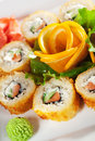 Salmon Fried Roll Royalty Free Stock Images