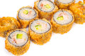 Salmon Fried Sushi Stock Image
