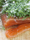 Salmon gravlax Stock Images