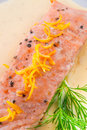 Salmon grilled with dill a fresh Royalty Free Stock Images