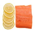 Salmon and lemon Royalty Free Stock Image