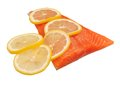 Salmon and lemon Royalty Free Stock Images