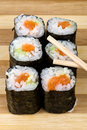 Salmon maki Royalty Free Stock Photography