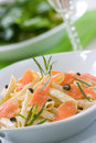 Salmon Pasta Royalty Free Stock Image