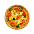 Salmon pizza Stock Images