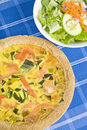 Salmon Quiche Stock Photo