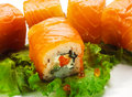 Salmon Roll Royalty Free Stock Photo