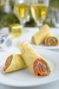 Salmon rolls Royalty Free Stock Photos