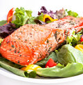Salmon salad Royalty Free Stock Photo