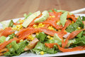 Salmon salad Stock Image
