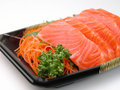 Salmon sashimi close-up Royalty Free Stock Photos