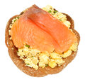 Salmon And Scrabbled Eggs On Toast Royalty Free Stock Photo