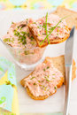 Salmon spread Stock Photo