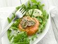 Salmon tartare with truffle Stock Photography