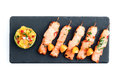 Salmon yakitori Royalty Free Stock Photo