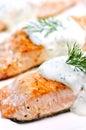 Salmones cocinados Fotografía de archivo
