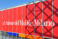 Salone del mobile milan italy apr interior design solution at international furnishing accessories exhibition in milan italy april Stock Photo