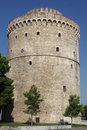 Salonic white tower the landmark of city from greece Stock Images