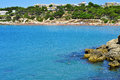 Salou spain platja llarga beach in Royalty Free Stock Photography