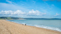 Salpton sands slapton beach in south devon Royalty Free Stock Images