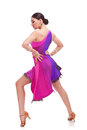 Salsa dancer with hands on hips Royalty Free Stock Photo
