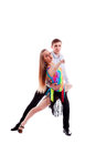 Salsa dancing couple Royalty Free Stock Photo