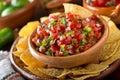 Salsa Pico De Gallo Royalty Free Stock Photo