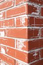 Salt on the brick defective bricks with projections in form of cracks Stock Photos