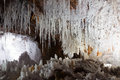 Salt cave with natural stalactites