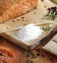 Salt cured salmon Royalty Free Stock Photo