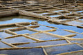 Salt evaporation ponds Royalty Free Stock Photos