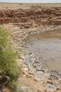 Salt evaporation ponds Royalty Free Stock Photo