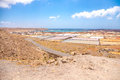 Salt fields photography of in lanzarote canary islands spain Royalty Free Stock Photos