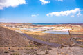 Salt fields photography of in lanzarote canary islands spain Stock Photo