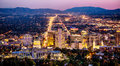 Salt Lake City skyline Utah at night Royalty Free Stock Photo