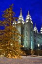 Salt Lake City Temple Square Christmas Lights Stock Photos