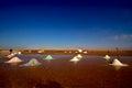 Salt lake in tunisia Royalty Free Stock Photo