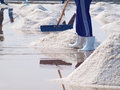 Salt pan Royalty Free Stock Images
