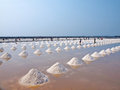 Salt pan Royalty Free Stock Photos