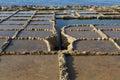 Salt pans evaporation ponds located near qbajjar on the maltese island of gozo Stock Image