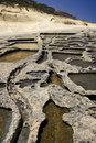 Salt Pans - Gozo - Malta Royalty Free Stock Photo