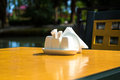 Salt and papper on the table Royalty Free Stock Photo