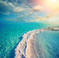 The salt path in the Dead Sea Royalty Free Stock Photo